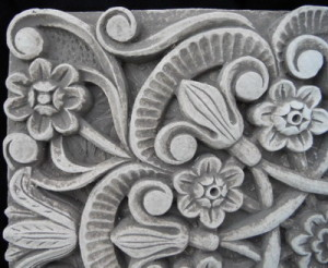 Пано - плетеница Цветя 2