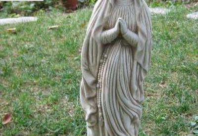 94 - Статуетка Дева Мария с броеница  1