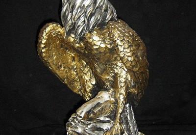 48 - Статуя Орел  (гипс) в златно 1